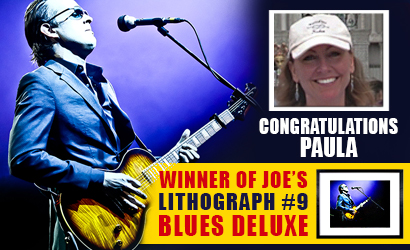 Meet the winner of the lithograph #9 Blues Deluxe, Paula