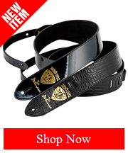 Ernie Ball JB Signature Guitar Straps, in black patent leather and black crocodile